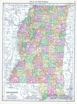 Mississippi, World Atlas 1913